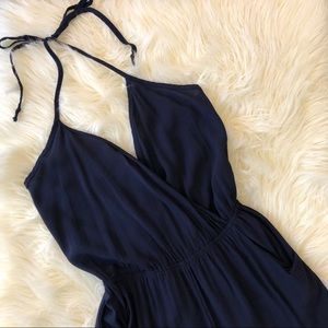 Lulu's Learning To Fly Navy Blue Jumpsuit